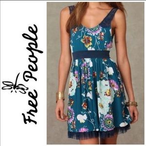 Free People floral tulle dress